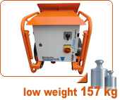 plaster machine for clay 230V-400V switchable UMP1 L-Power dual