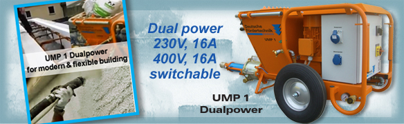 mixing and conveying pump UMP1 230V-400V switchable