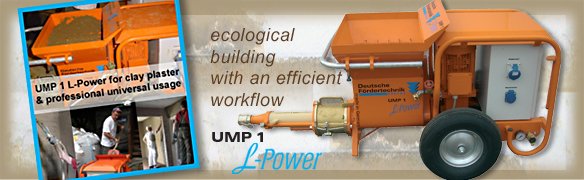 clay plaster machine, mixing pump UMP1