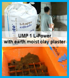 UMP1 L-Power processing earth moist clay material