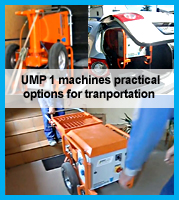 transport and logistic options for UMP1 mixing pumps
