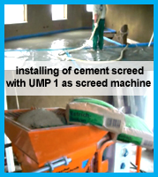 install cement screed with UMP 1 screed pump