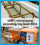 making of a ring beam with mixing pump UMP1