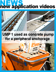 UMP1 used as concrete pump