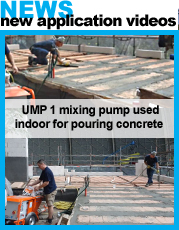 concrete pump UMP1 usage indoor