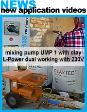 UMP 1 L-Power dual mixing pump for clay plaster