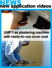 UMP1 mixing pump for plastering