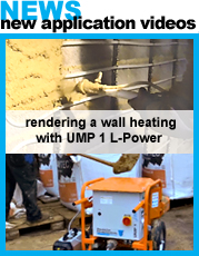 UMP1 clay plaster machine used for rendering