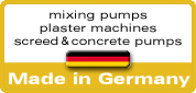 mixing pumps screed pumps plaster machines made in Germany
